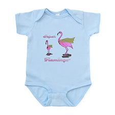 Super Flamingo Infant Bodysuit