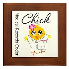Medical Records Coder Chick Framed Tile