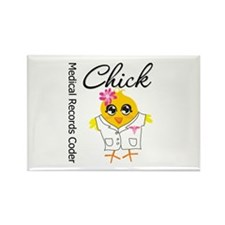 Medical Records Coder Chick Rectangle Magnet