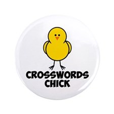 "Crosswords Chick 3.5"" Button (100 pack)"