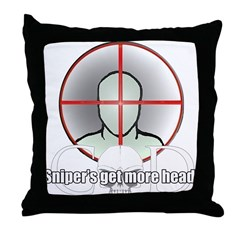 Snipers get more head Throw Pillow