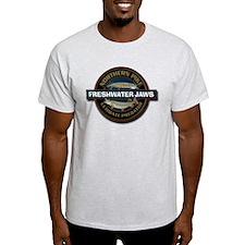 Light Freshwater Jaws Pike Fishing T-Shirt