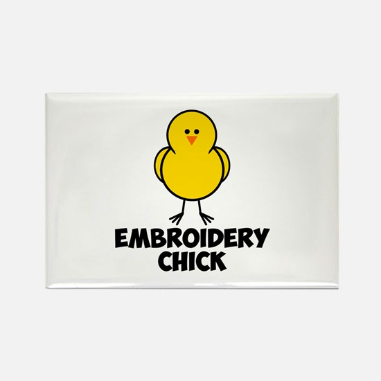 Embroidery Chick Rectangle Magnet