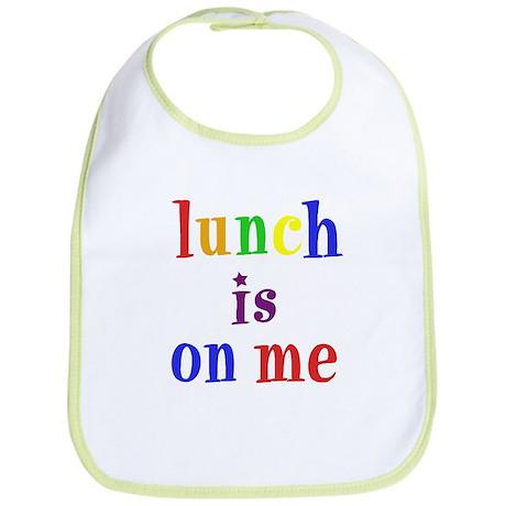"Bib - ""Lunch is on me"" rainbow"