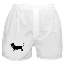 Christmas or Holiday Basset Hound Silhouette Boxer