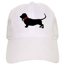 Christmas or Holiday Basset Hound Silhouette Cap