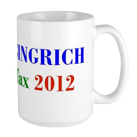 Cain Gingrich FairTax Large Mug