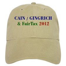 Cain Gingrich FairTax Baseball Cap