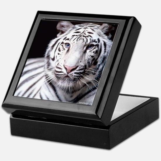 White Bengal Tiger Keepsake Box