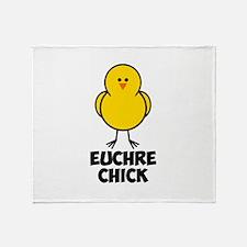 Euchre Chick Throw Blanket