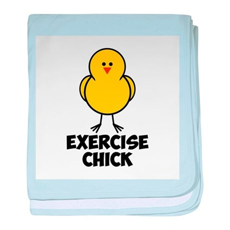 Exercise Chick baby blanket
