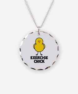 Exercise Chick Necklace