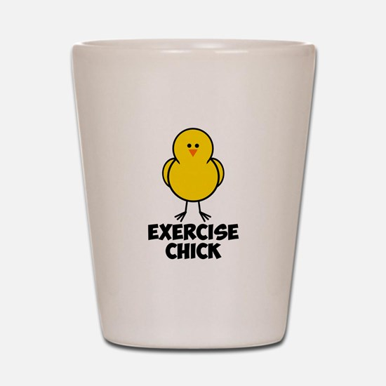 Exercise Chick Shot Glass