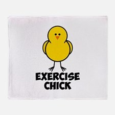 Exercise Chick Throw Blanket