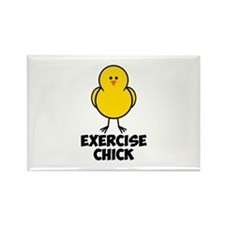 Exercise Chick Rectangle Magnet (10 pack)