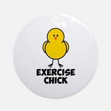 Exercise Chick Ornament (Round)