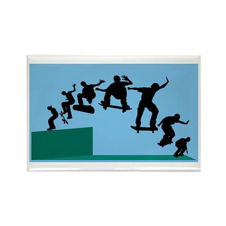 Skateboard Evolution Rectangle Magnet