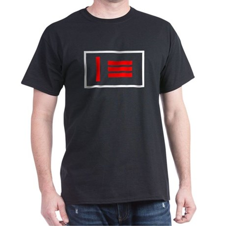 Master/slave (Dom/sub) Pride Flag Black T-Shirt