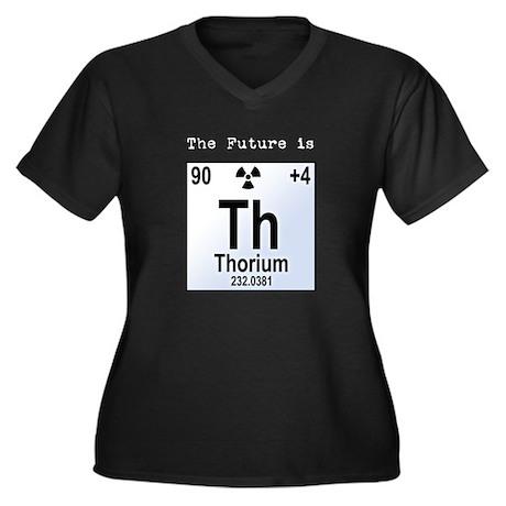 Thorium Element Women's Plus Size V-Neck Dark T-Sh