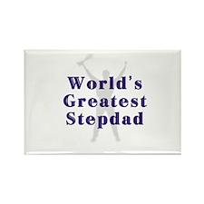 World's Greatest Stepdad Rectangle Magnet