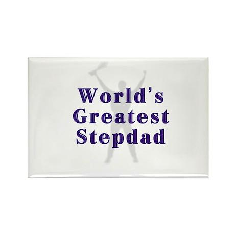 World's Greatest Stepdad Rectangle Magnet (100 pac