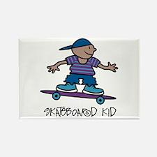 Skateboard Kid Rectangle Magnet