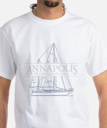 Annapolis Sailboat - T-Shirt