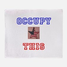Occupy This Star Throw Blanket
