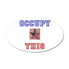 Occupy This Star 22x14 Oval Wall Peel