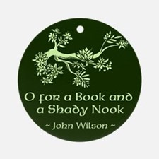 O for a Book Ornament (Round)