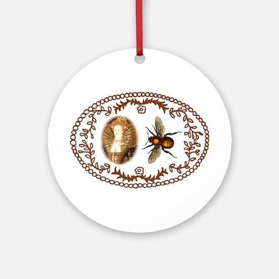 Queen Bee (Elizabeth I) Ornament (Round)