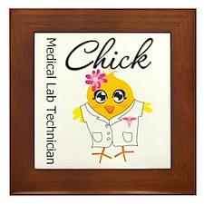 Medical Lab Technician Chick Framed Tile