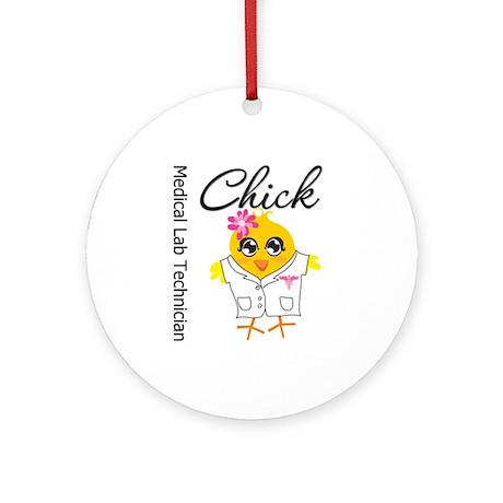 Medical Lab Technician Chick Ornament (Round)