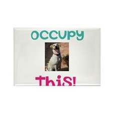 Occupy This Dog! Rectangle Magnet
