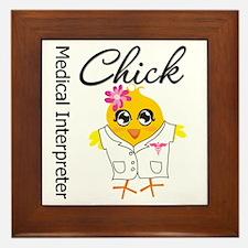 Medical Interpreter Chick Framed Tile
