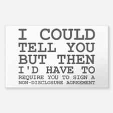 Non-Disclosure Agreement Decal