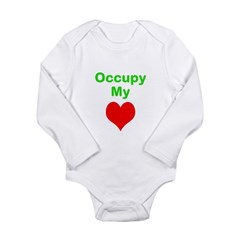 Occupy My Heart Long Sleeve Infant Bodysuit