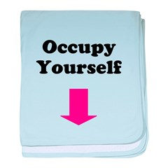 Occupy Yourself baby blanket