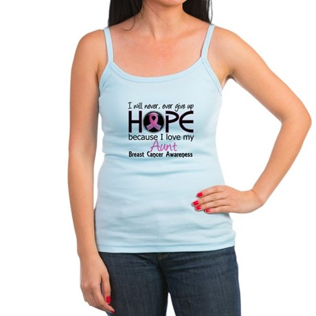Hope For My 2 Breast Cancer Jr. Spaghetti Tank
