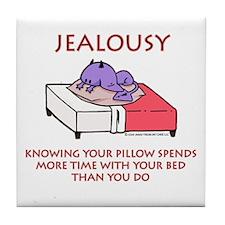 Jealousy Purple Devil Tile Coaster