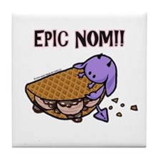 Fudge Taco Purple Devil Tile Coaster