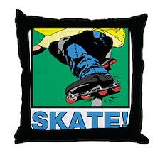 Inline Skate! Throw Pillow