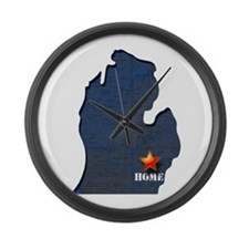 Michigan Is Home Large Wall Clock