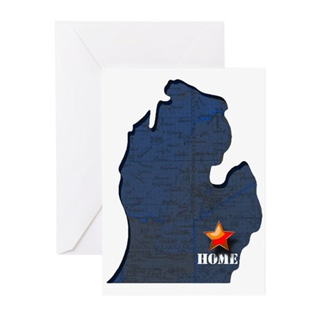 Michigan Is Home Greeting Cards (Pk of 20)