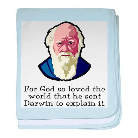 God Sent Darwin baby blanket