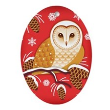 Molly In Pine Tree Ornament (Oval)