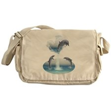 The Heart Of The Dolphins Messenger Bag