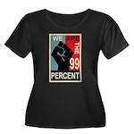 Occupy Poster Women's Plus Size Scoop Neck Dark T-