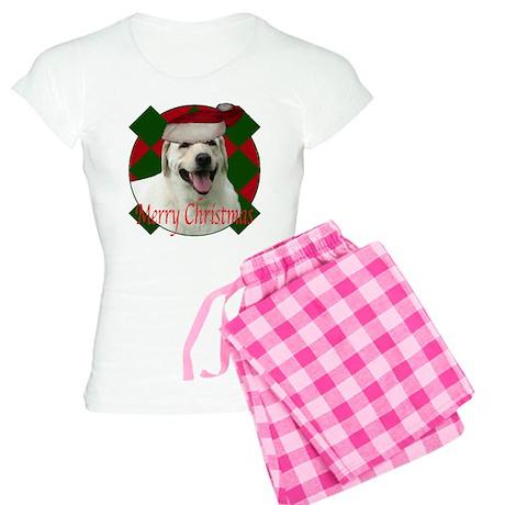 Happy lab christmas Women's Light Pajamas