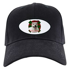 Happy lab christmas Baseball Hat